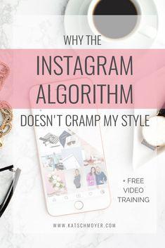 Why the Instagram Algorithm doesn't cramp my style with Megan Martin // Kat Schmoyer Education #creative #smallbiz #entrepreneur #smallbusiness #business #businesstips