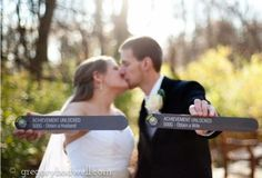 Nerd wedding picture -- this must be done at my wedding! Xbox Wedding, Geek Wedding, Wedding Humor, Wedding Engagement, Our Wedding, Dream Wedding, Wedding Ideas, Wedding Stuff, Wedding Inspiration