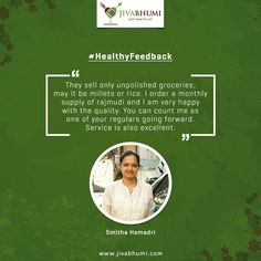 A smile on a healthy customer's face is what makes us happy. Shop for chemical free food products at: https://shop.jivabhumi.com/ #Farm #Food #FarmersMarket #SafeFood