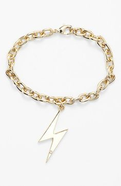 Ariella Collection Lightning Bolt Charm Bracele