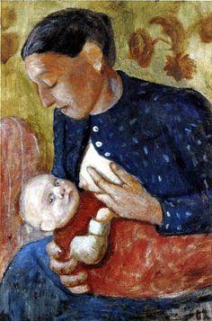 Paula Modersohn-Becker - Stillende Mutter