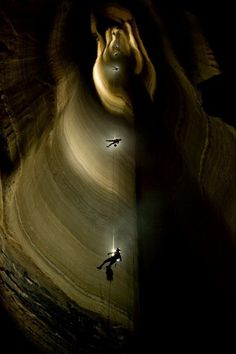 Krubera Cave (deepest limestone cave in the world) over 2,000 meters or 6,000 feet deep, Country of Georgia
