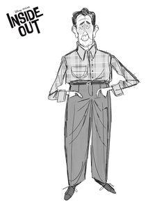 I love high waisted pants too! #minnesota #pixar #pixarartist #insideout #animation #film #characterdesign #sketchartist #design #art #illustration #concept #womeninanimation (at Pixar)