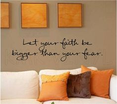 Vinyl lettering Let your faith be bigger than your fear decal word wall sticky art on Etsy, $9.99