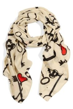Louche Juliet Heart And Key Scarf