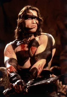 Austrianborn American actor Arnold Schwarzenegger on the set of Conan the Barbarian directed by John Milius Fantasy Fighter, Fantasy Warrior, Fantasy Films, Fantasy Fiction, Conan The Barbarian Movie, Arnold Schwarzenegger Movies, Last Action Hero, Conan The Destroyer, Black Panther Marvel