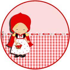 """Kit de Personalizados Tema """"Chapeuzinho Vermelho"""" para Imprimir - Convites…"""