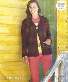 Ladies Jacket Knitting Pattern. by prettydollsclothes on Etsy