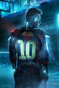"terra99: ""Cyber Street Football - Messi by Bosslogix """
