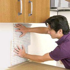 subway tile backsplash and CHEAP alternative to renting wet saw