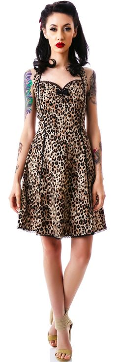 Sourpuss Lucille Dress   Dolls Kill -- this dress also has a fully covered back!
