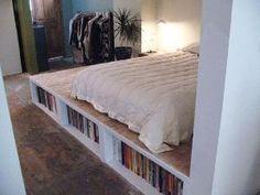 DIY Platform bed with storage by Khandiie