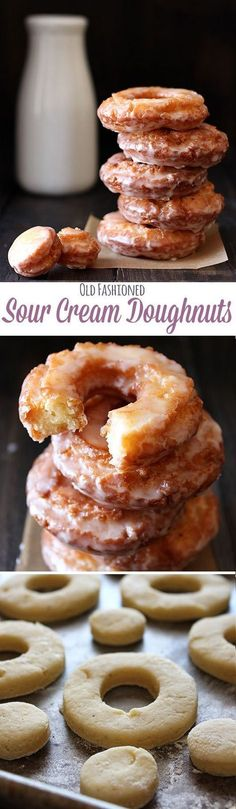 No yeast means you don't need to wait for them to rise! Old-Fashioned Sour Cream Doughnuts