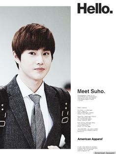 EXO for American Apparel: Meet Suho