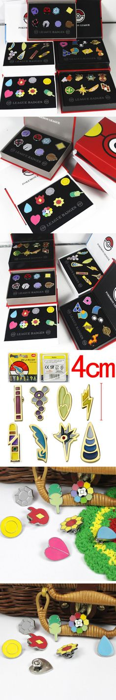 Original Box Pocket Monster Pokemon Badge Brooch Pokemon Action Figures Metal Collection Pokemon Toys Anime Children Kids toys
