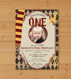 Harry Potter Birthday Invitation First Party