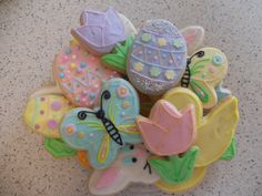 {Honeycomb} Easter Sugar Cookie Platter - Honeycomb Bakery / Lancaster, OH on FB
