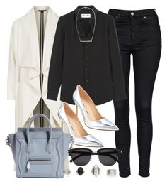 """""""Style #9457"""" by vany-alvarado ❤ liked on Polyvore featuring Topshop, Yves Saint Laurent, Manolo Blahnik, women's clothing, women, female, woman, misses and juniors"""