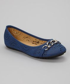 Look what I found on #zulily! Royal Blue Cutout Link Flat by Tory Klein #zulilyfinds