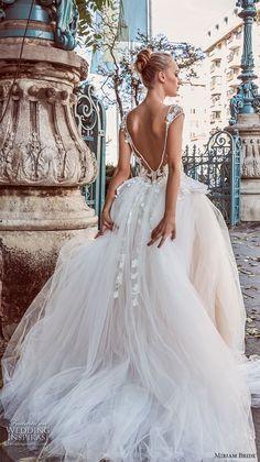 miriams bride 2018 bridal cap sleeves illusion bateau sweetheart neckline tulle skirt romantic ball gown a line wedding dress v back chapel train (1) bv -- Miriams Bride 2018 Wedding Dresses #wedding #bridal #weddings