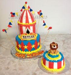 circus birthday cake www.kittiskakes.com