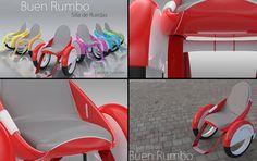 Buen Rumbo wheelchair concept by designer Diana Amaya