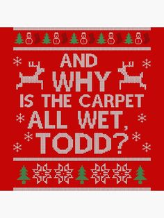 'And why is the carpet all wet, Todd?' Acrylic Block by DevilChimp Photographic Prints, Sell Your Art, Diamond Cuts, Christmas Decor, Carpet, Holidays, Crystals, Holidays Events, Holiday