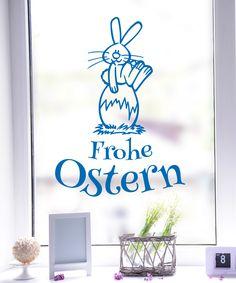 Häschen auf Osterei Ostern