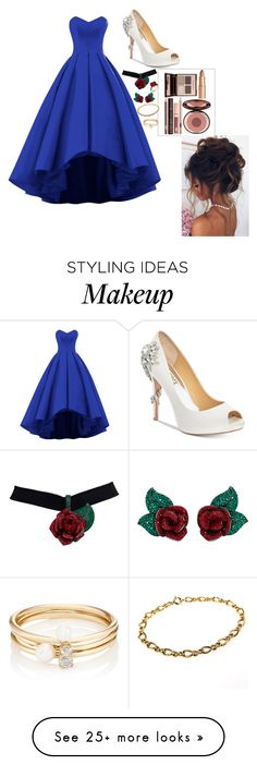 """Untitled #270"" by cherralyn-ray on Polyvore featuring Badgley Mischka, Charlotte Tilbury, Atelier Swarovski and Loren Stewart"