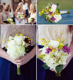 Love the purple color pop in these floral #bouquets for this #destinationwedding