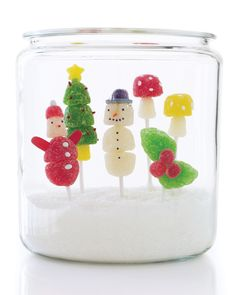 15 Snowman Crafts Thatll Make for a Wonderful Winter | When the weather outside is frightful, the snowmen that result are delightful. For kids and adults alike, heres lot of inspiration for making roly-poly gents that will never melt away. Watch colorful confections come to life as snowman and other icons of the season with these gumdrop pops.  #diyholidaydecor #craftsforkids #marthastewart