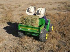 o yah this is so gonna b my boys Haulin' hay, cute little boys