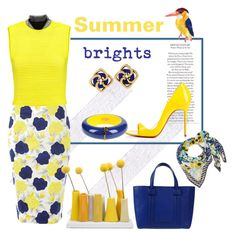 """Business summer brights"" by guzeliko on Polyvore featuring мода, Dickins & Jones, Alexander Wang, Emanuel Ungaro, Dsquared2, Tiffany & Co., Christian Louboutin, Dot & Bo и Diane Von Furstenberg"