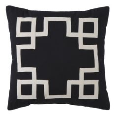 grosgrain applique pillow $25