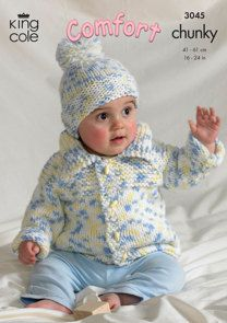 Sweater, Jacket, Bolero and Hat in King Cole Comfort Chunky - 3045