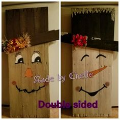 Double sided Scarecrow/Snowman
