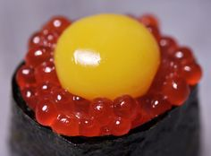 If you haven't tried quail egg on your favorite sushi, it's definitely worth trying!