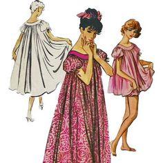 1950s McCalls 4610 Misss Muu Muu Baby Doll Pajamas Dress Panties Bloomers womens vintage sewing Pattern by mbchills Baby Doll Pajamas, Baby Dolls, Vintage Sewing Patterns, Clothing Patterns, Vintage Outfits, Vintage Fashion, Vintage Clothing, Vintage Nightgown, Muumuu