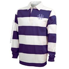 Monogrammed Rugby Shirt - Purple & White – Ace & Ivy