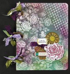 Life is Beautiful album http://www.paperwishes.com/projects/26/all-occasion/1627/life-is-beautiful-album.html You find some wonderful tutorials for paper crafting, mixed media under Project Gallery.