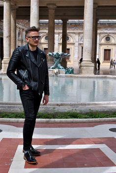 total black look, italian blogger, montecatini terme, tuscany