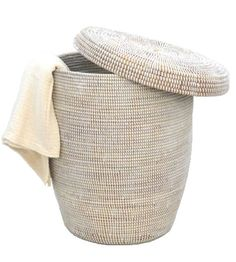 Woven Hamper with Lid