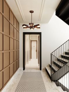 Modern home interiors and design ideas from the best in condos, penthouses and architecture. Plus the finest in home decor and products. Residential Interior Design, Home Interior Design, Interior And Exterior, Contemporary Interior, Luxury Interior, Residential Lighting, Black Trim Interior, Copper Interior, Hall Interior