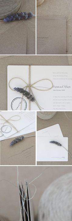 Lavender & twine invite