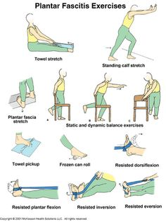 Stretches to relieve pain caused by plantar fasciitis