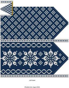 Crochet Mittens Free Pattern, Knit Mittens, Crochet Chart, Knitted Gloves, Knit Crochet, Knitting Charts, Knitting Stitches, Hand Knitting, Knitting Patterns