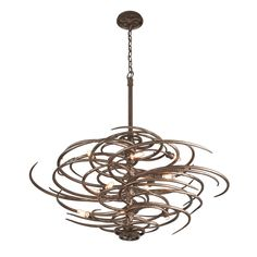 Industrial Cyclone Chandelier Large  Sharp and graceful simultaneously