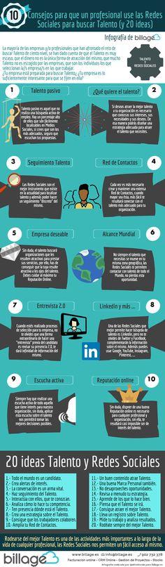 10 consejos para atraer Talento con Redes Sociales (y 20 ideas) #infografia