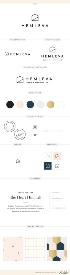 Gift and housewares logo design brand board by Aeolidia
