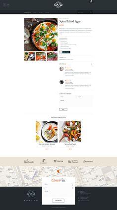 The Gourmet - Food WP Skin & Theme on Behance